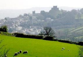 View of Launceston Castle from Cowslip Workshops